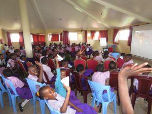 Upendo Children Waving from Malindi to Ottawa-Aug 1, 2019 Skype Session